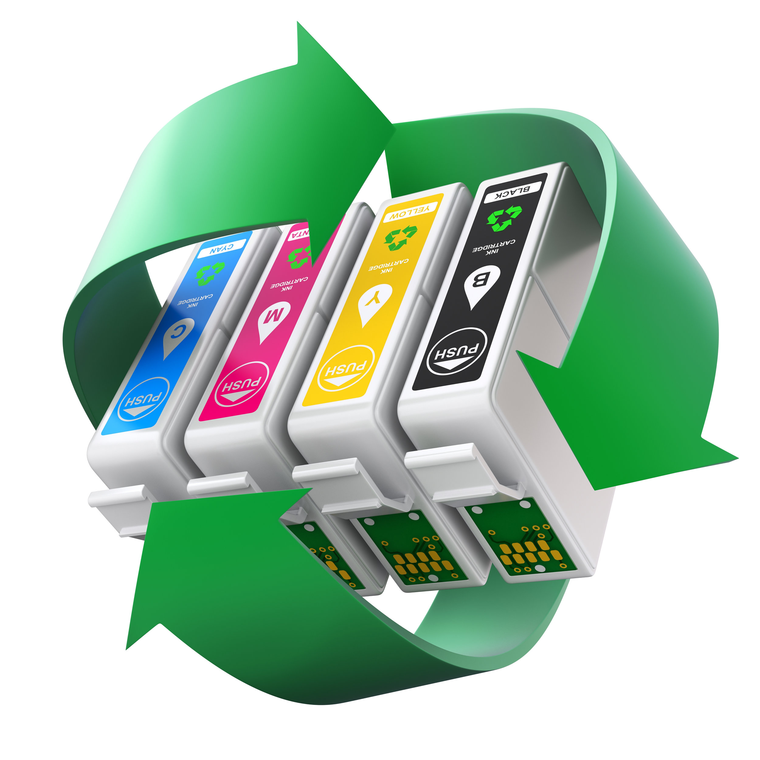 CMYK set of cartridges with recycling symbol.jpg
