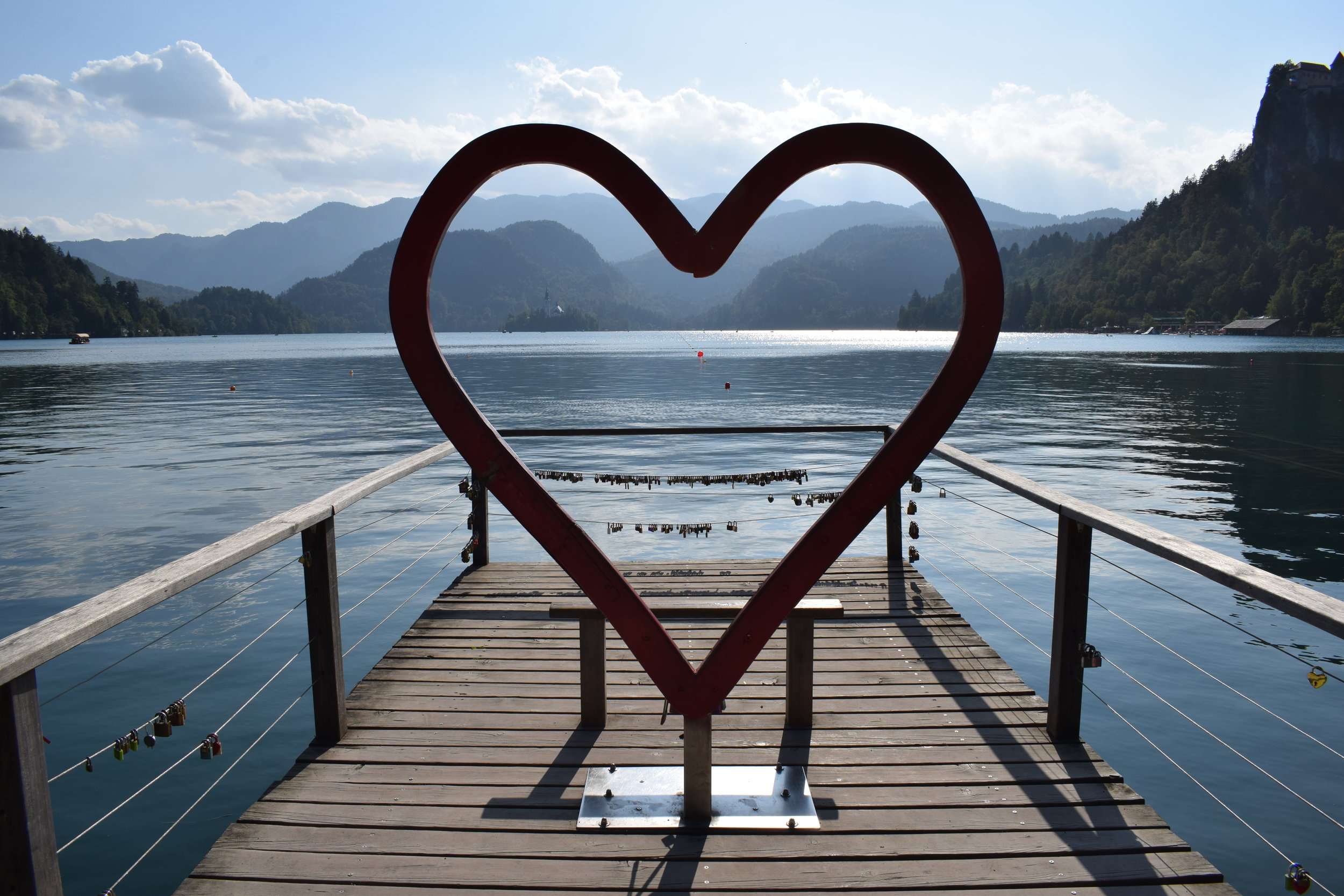 Lake Bled love heart fairytale