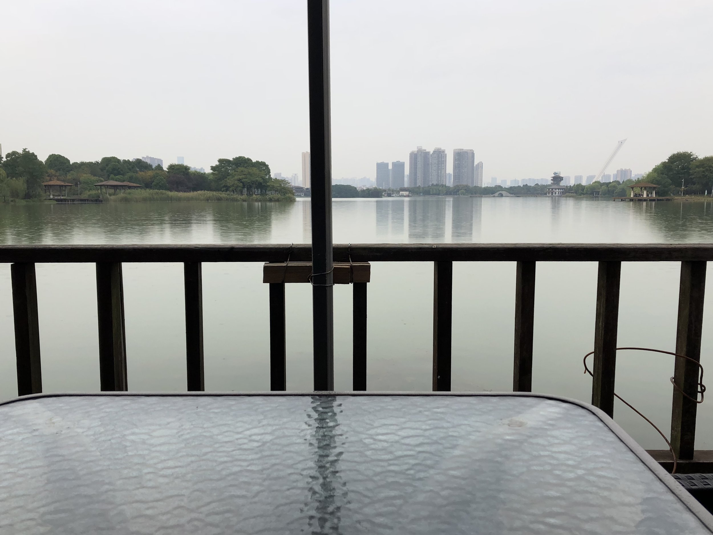 Enjoy lunch with views of Moonlake Park - Price: 元元 Moderate.Location: Based in Kaifu District about 30 minutes taxi ride from city centre.There are several restaurants to chose from along the promenade opposite Moonlake Park. Try B.E. Elephant for amazing Thai curries! You can walk around the park after eating. Of course, better to visit on a sunny day but just as good in light rain.