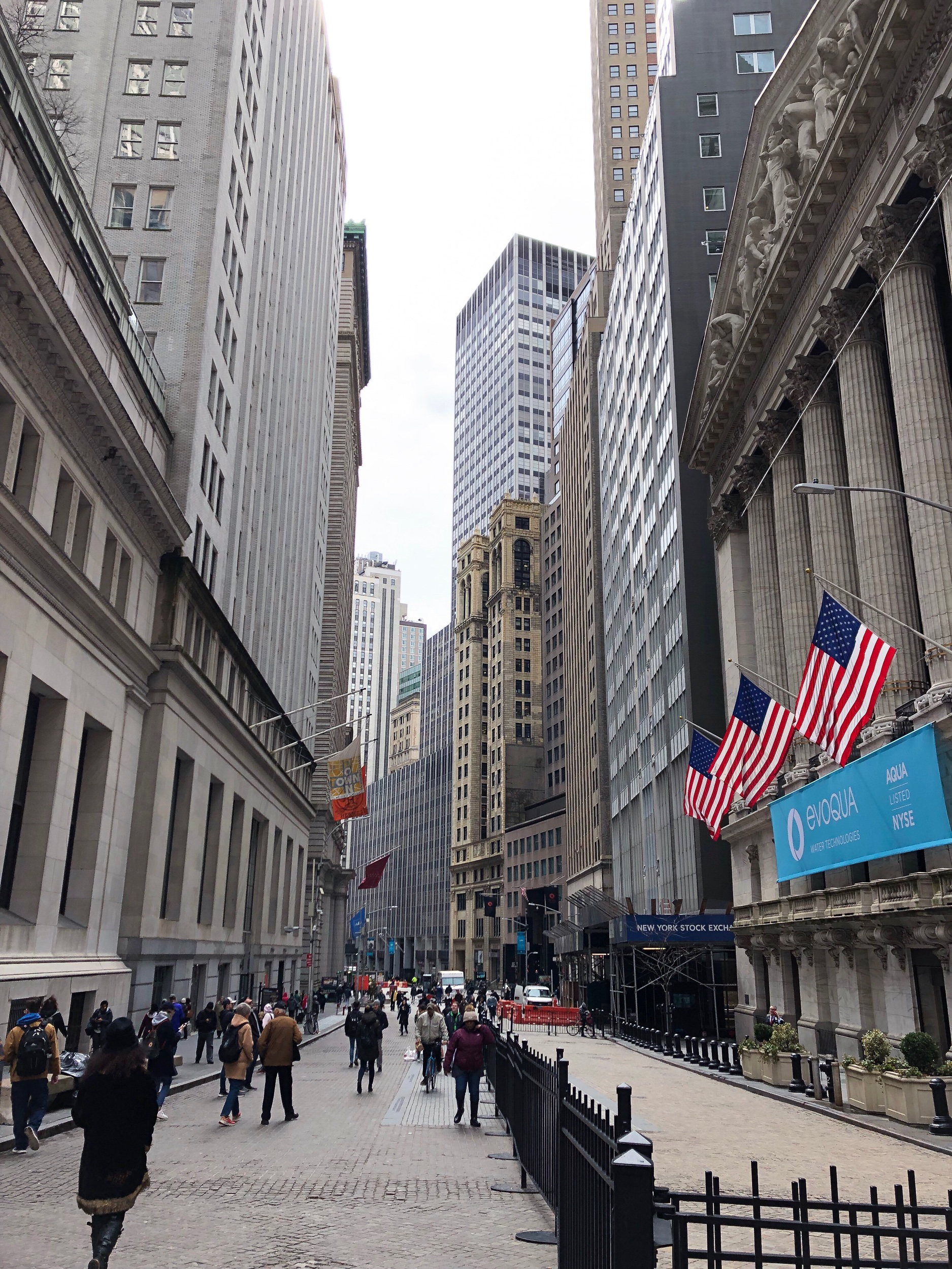 Visit Wall Street | free - Walk the famous Wall Street in the Financial District and be sure to check out highlights including Trinity Cathedral, the Charging Bull, Fierceless Girl, New York's Stock Exchange and City Hall & City Hall Park.