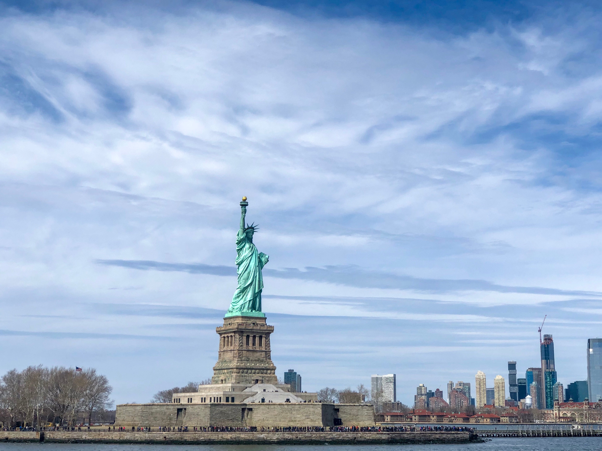 Take Staten Island Ferry for views of the Statue of Liberty | free - Free commuter ferry which runs 24 hours from South Terminal Lower Manhattan to St George Terminal Staten Island. Take advantage of the opportunity to see New York's city skyline and the Statue of Liberty at day or night.