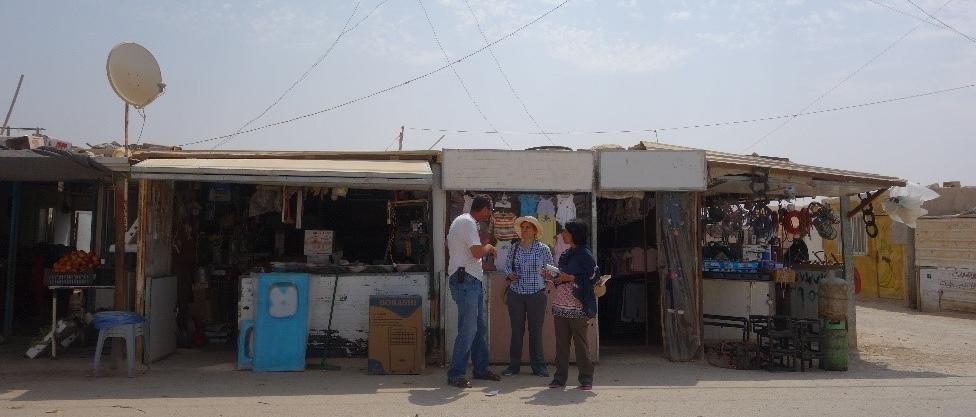 Dr. Kaushal and Ms. Morris in Za'atari camp in Jordan in August 2016.