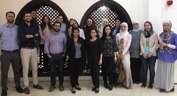 University of Jordan medical students, Dr. Anindita Dasgupta, and myself at the Columbia Global Center in Amman (July 2017).