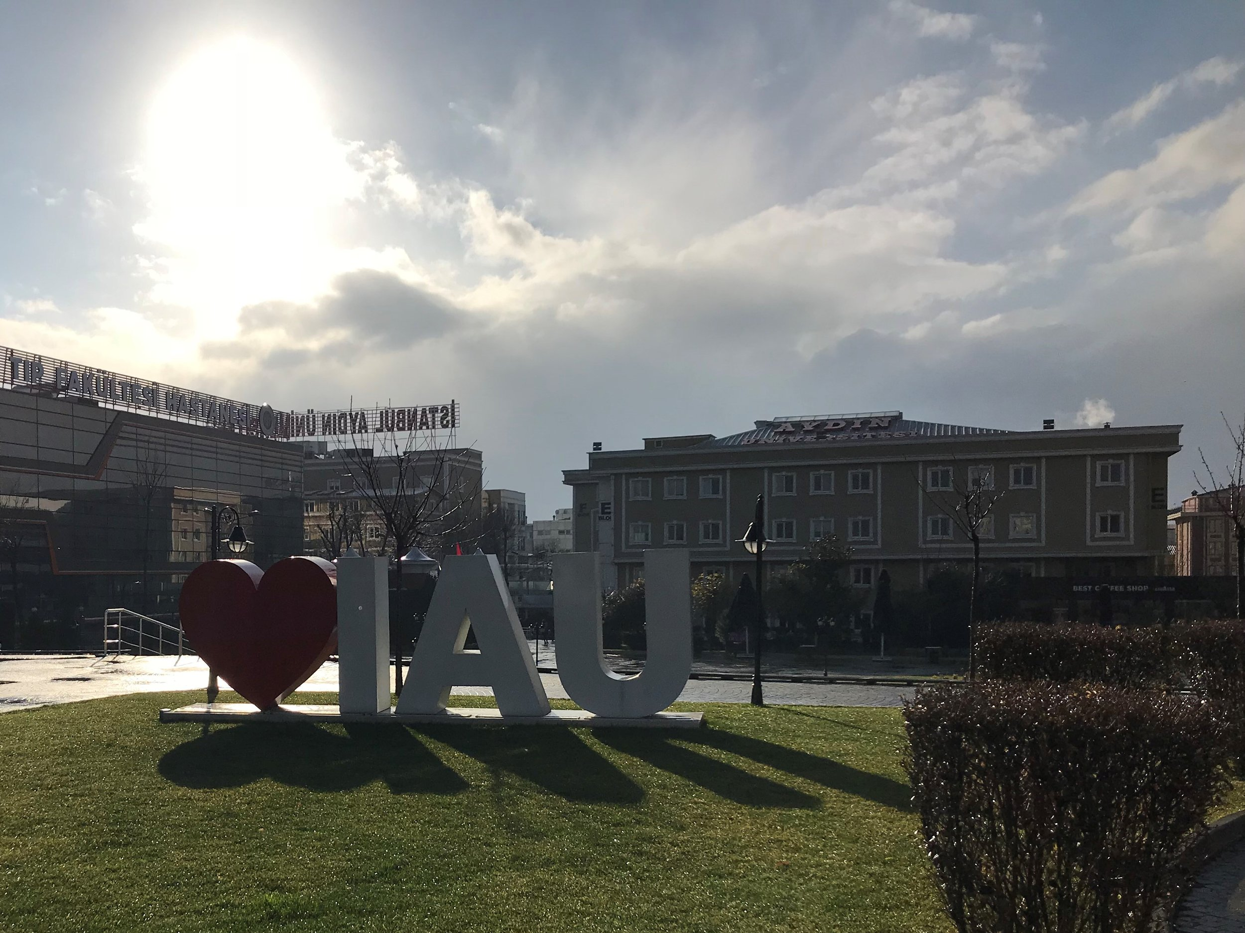A beautiful afternoon at Istanbul Aydin University in January 2018.