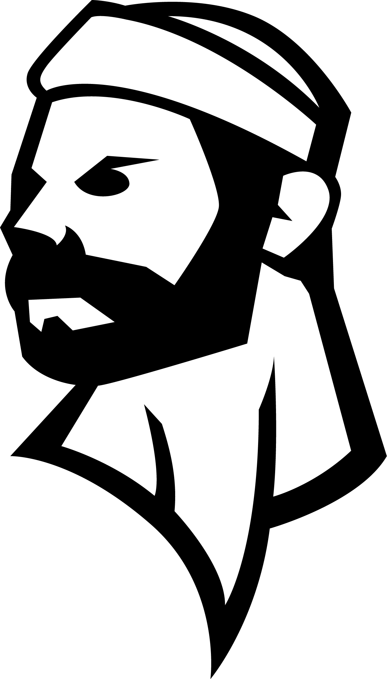 Lumberjacks Head BW.png