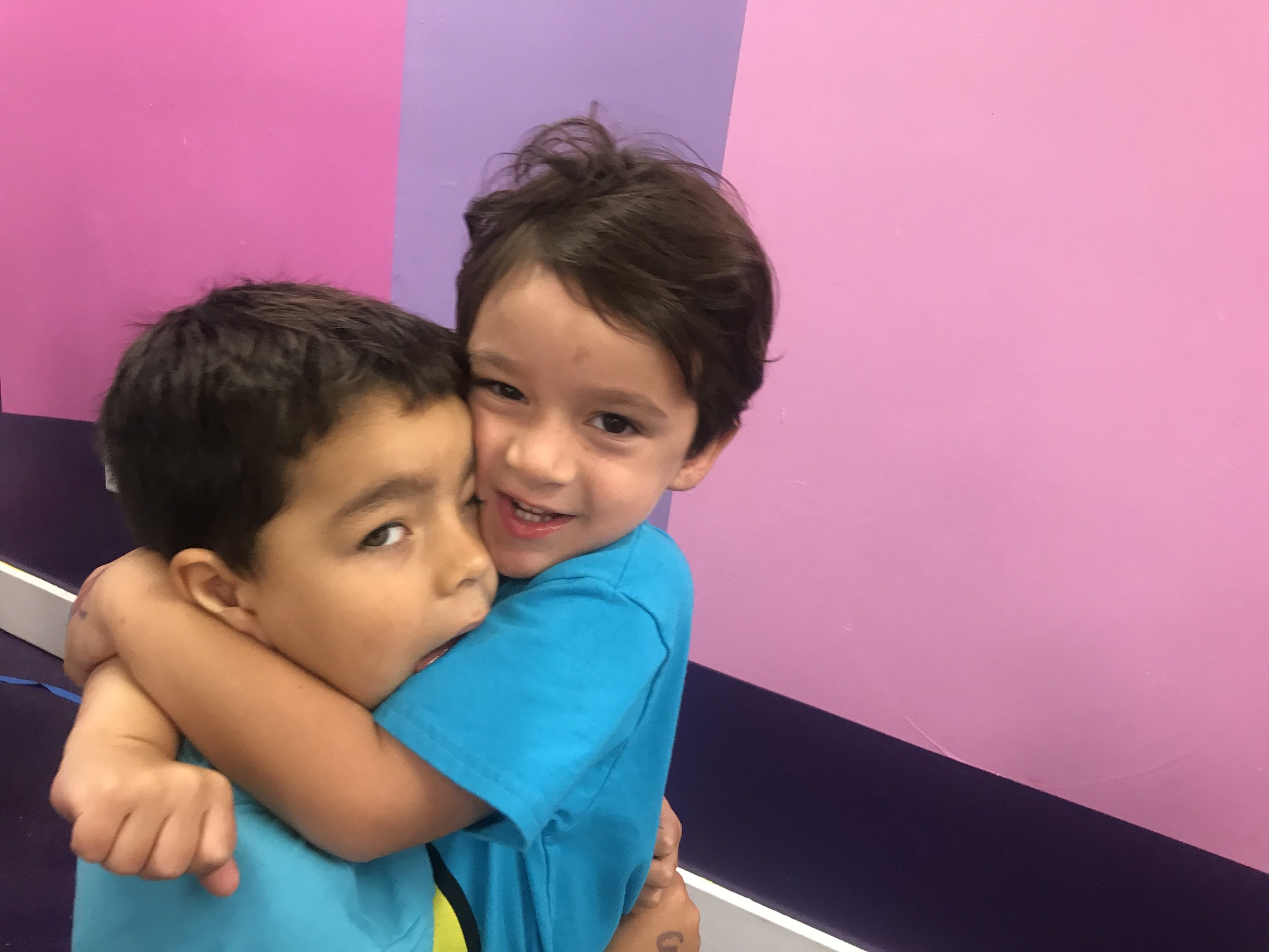 Giving love to my friend Joaquin!