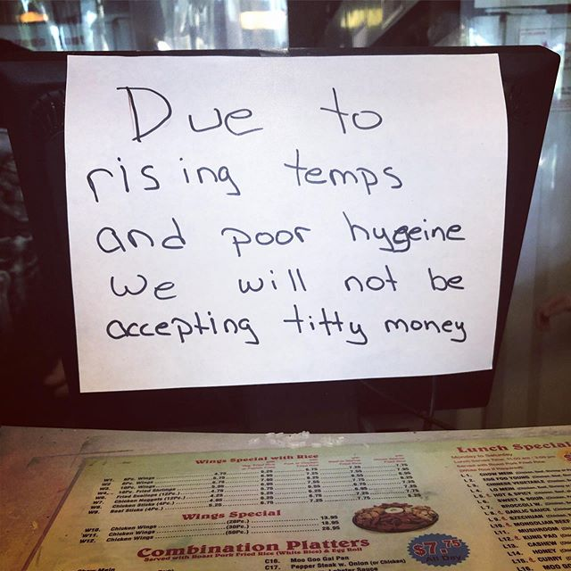 One of the local Chinese places taking a stand in this Florida heat.