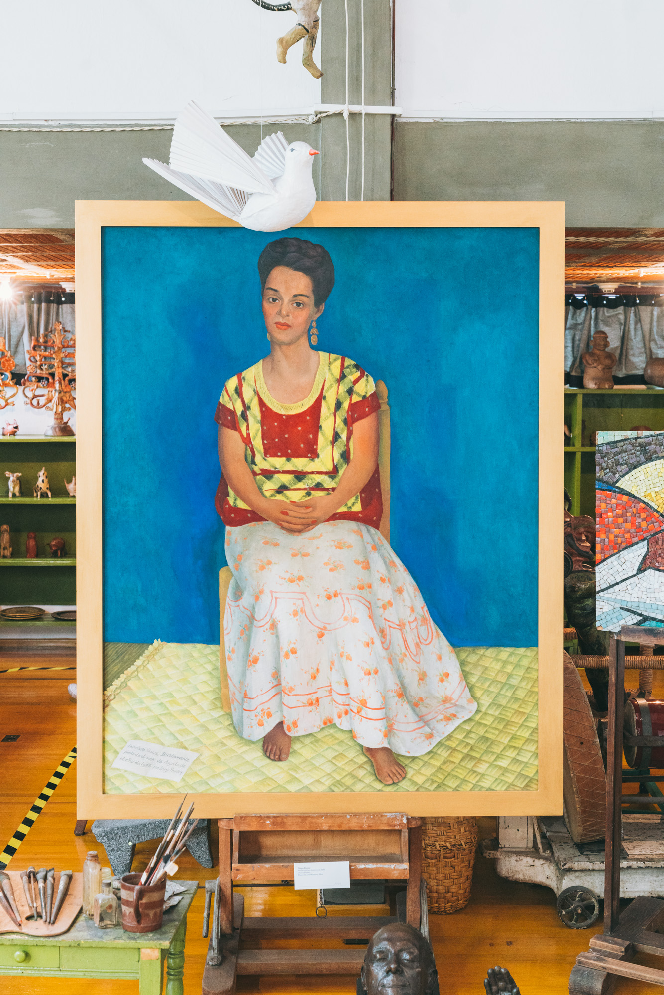 painting in diego rivera's studio