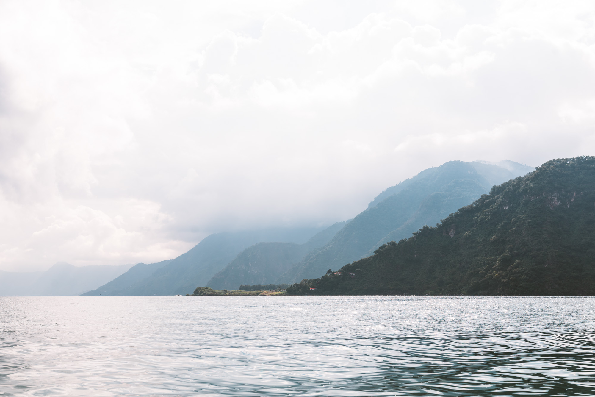 view West from Panajachel at Lake atitlan