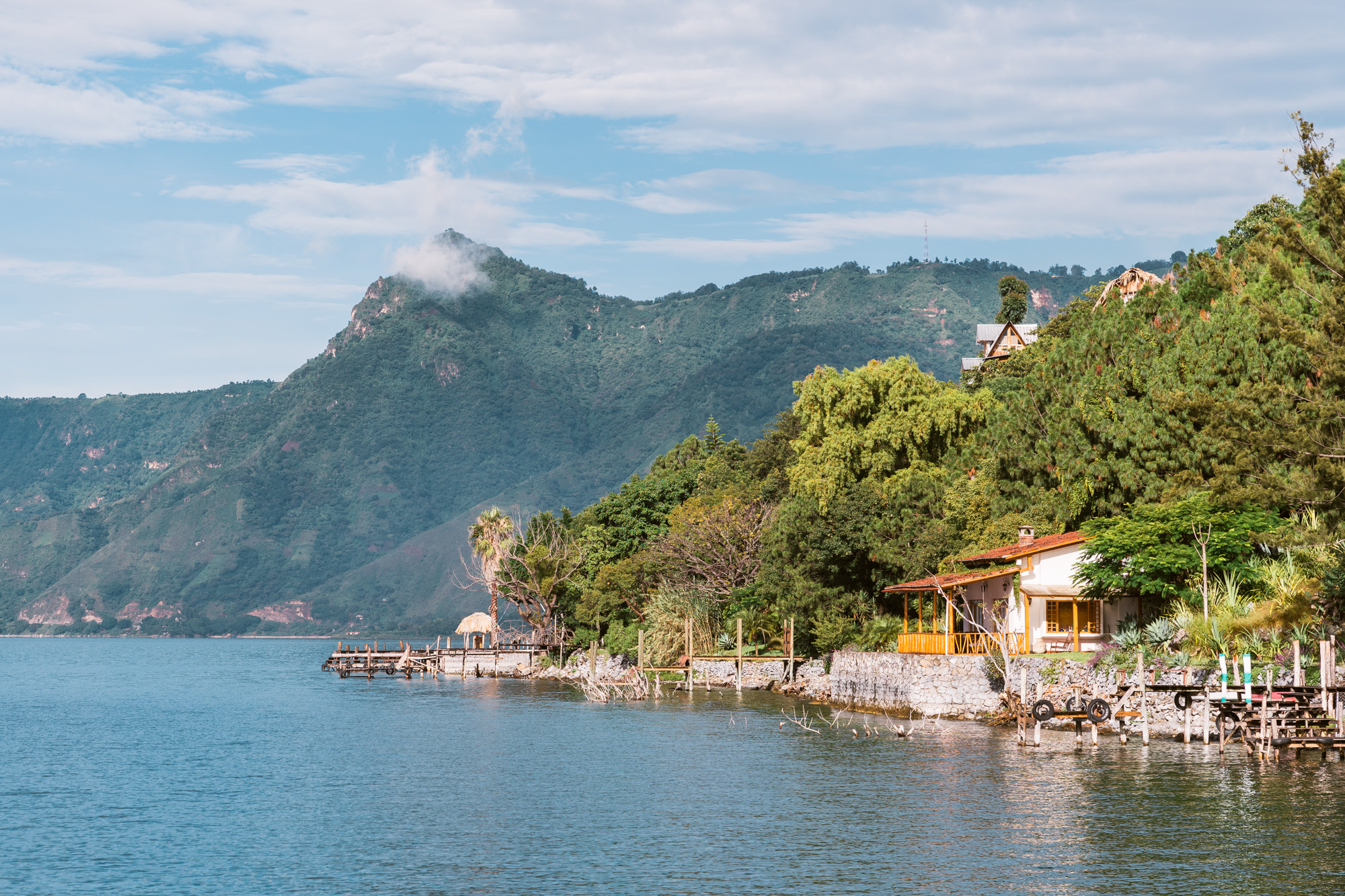 lake front in San Marcos at lake atitlan