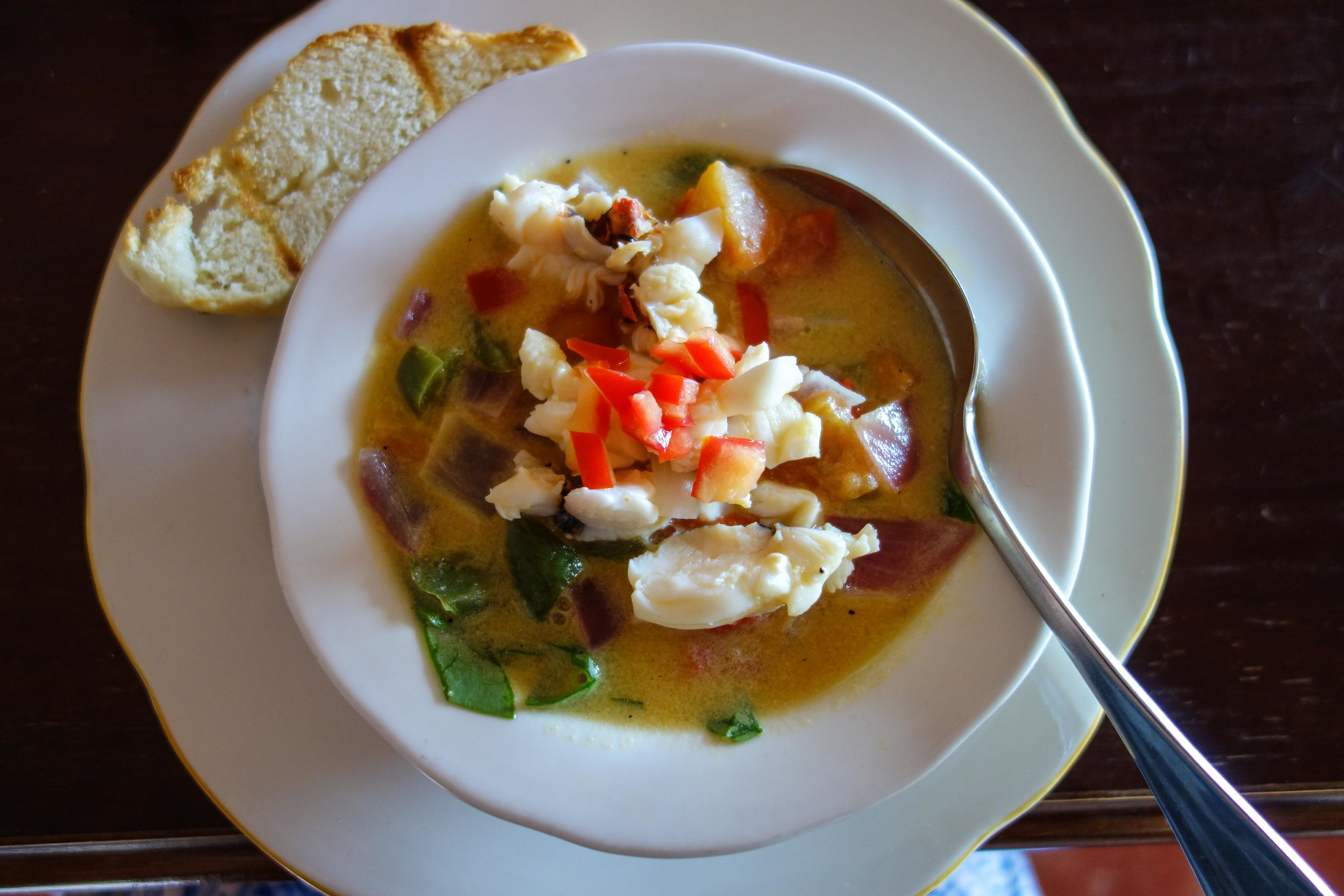 Lobster Tail Soup at Sugar Reef