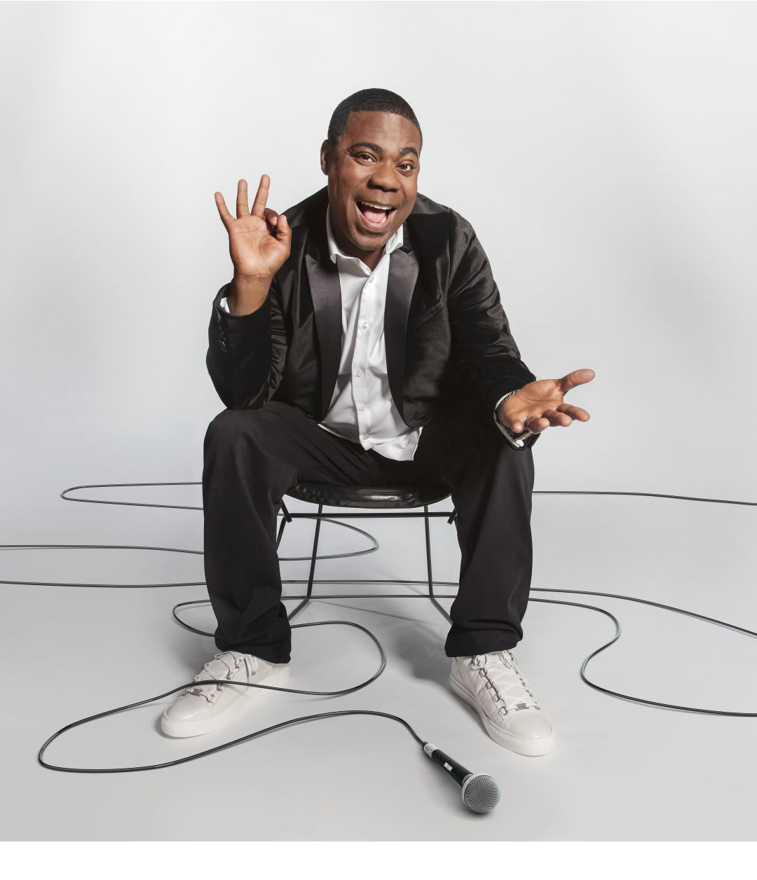 "Tracy morgan - Tracy Morgan is one of the most respected comedians in his field. Starring for seven seasons on NBC's Emmy and Golden Globe Award-winning 30 Rock, Morgan appeared opposite Tina Fey and Alec Baldwin as ""Tracy Jordan,"" the unpredictable star of Lemon's (Fey) hit variety show, TGS with Tracy Jordan. He can currently be seen in the second season of the TBS show ""The Last OG"" which he stars in and executive produces. Most recently, he starred in in Paramount's What Men Want with Taraji P. Henson which released in January 2019. Morgan's stand up special Staying Alive was released globally on Netflix in May 2017. Additionally, Morgan received a star on the Hollywood Walk of Fame in the 2016 class.From his work on 30 Rock, Morgan has received an Emmy Nomination in the Supporting Actor category and been nominated multiple years for the Supporting Actor NAACP Image Award. The 30 Rock cast has also won the Screen Actors Guild Award for ""Outstanding Performance by an Ensemble in a Comedy Series."" The beloved series came to an end in January 2013. Outside of the show, Morgan also received an Emmy nomination for Outstanding Guest Actor in a comedy series in 2016 for hosting an episode of SNL.In April 2014, Morgan released a standup special for Comedy Central, titled Tracy Morgan: Bona Fide, which brought Comedy Central one of its largest viewership for a standup special that year. Previously, his first stand up special was titled Black & Blue and released on HBO in 2010. Another milestone for Morgan was reached in 2009 with the release of his first book, a compilation of studied anecdotes and some of the more serious moments that shaped him and his career entitled I Am The New Black.Morgan has also had the opportunity to be a part of some of the most successful animated films in recent years. In 2009, he made his animation debut lending his voice for Jerry Bruckheimer's G-Force, a combination live-action/CG film. The film opened number one in US box offices and was celebrated by audiences worldwide. In 2013, he starred as the bulldog, Luiz, in the film Rio and again in April 2014 when he reprised his role in Rio 2. Morgan's voice can also be heard in the Oscar-nominated film, Boxtrolls, as one of the film's antagonist, Mr. Gristle.Morgan has headlined across the country and abroad on various tours and festivals for his stand-up comedy. He was first introduced to television audiences in his role as Hustleman on the hit comedy series Martin. He went on to join Saturday Night Live in 1996 where he appeared for seven seasons and created such memorable characters as ""Astronaut Jones"" and ""Brian Fellows."" After leaving SNL, Morgan went on to star in his own comedy series The Tracy Morgan Show and voiced ""Spoonie Luv"" on Comedy Central's Crank Yankers. Additional film credits include: Cop Out, the remake of the British film Death at a Funeral, First Sunday opposite Ice Cube and Katt Williams, The Longest Yard opposite Adam Sandler, Jay and Silent Bob Strike Back, Head of State, Son of No One, Why Stop Now and Fist Fight.Morgan currently resides in New Jersey with his wife their daughter."