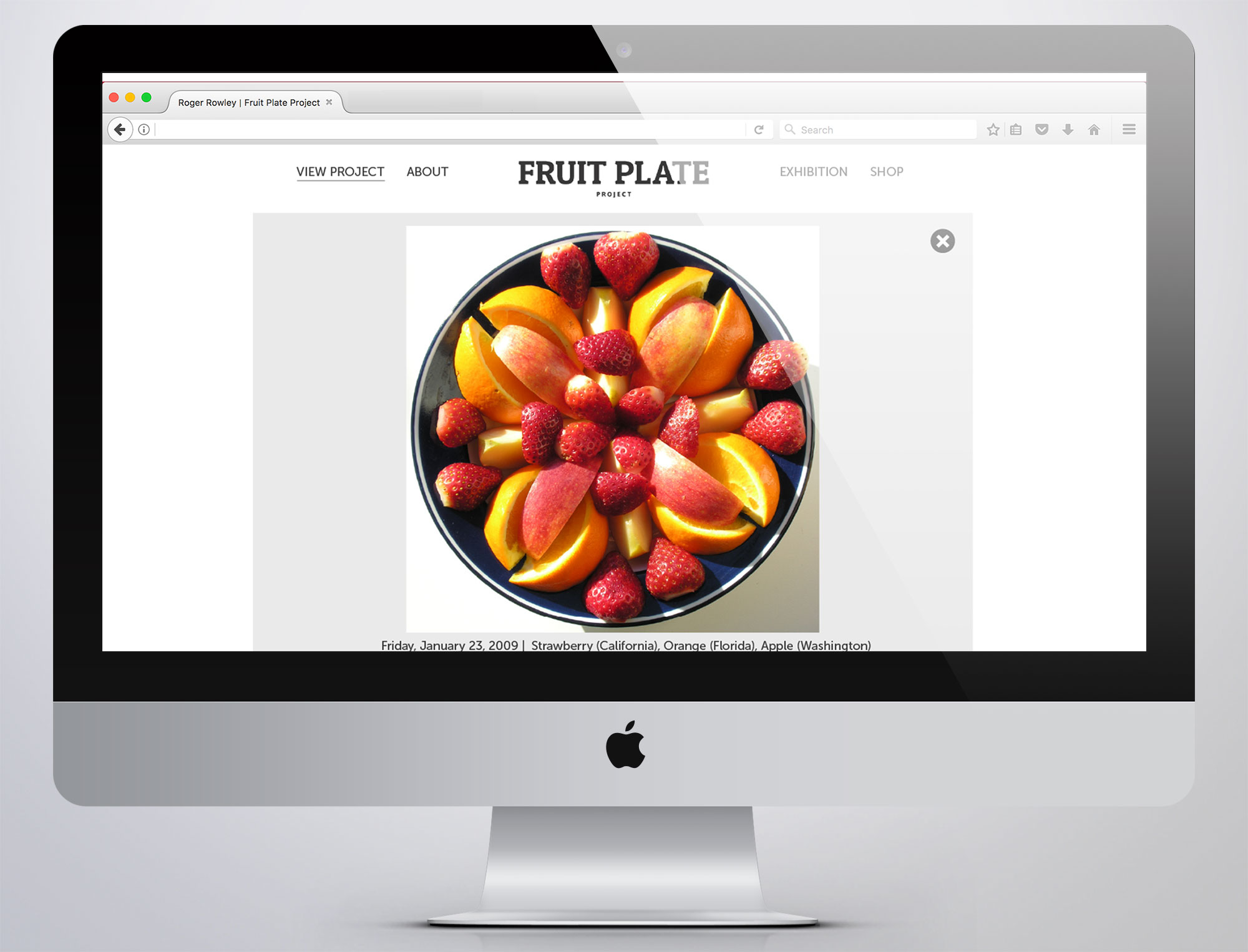 Fruit plate sectional page