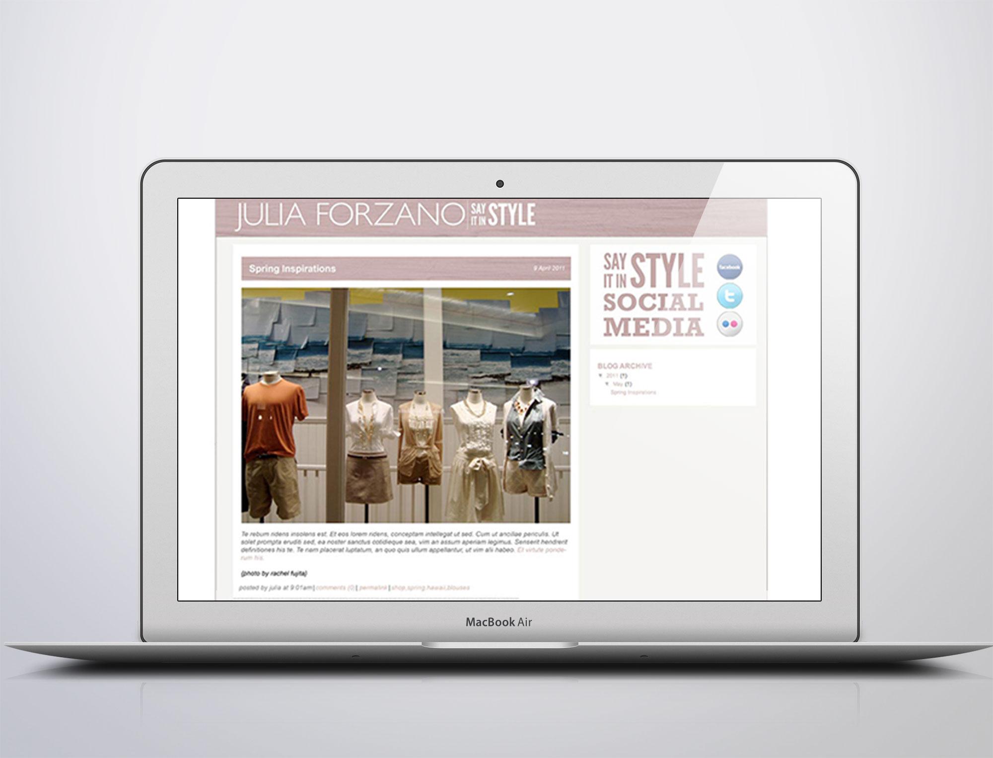 Blog (template design created through blogger.com)