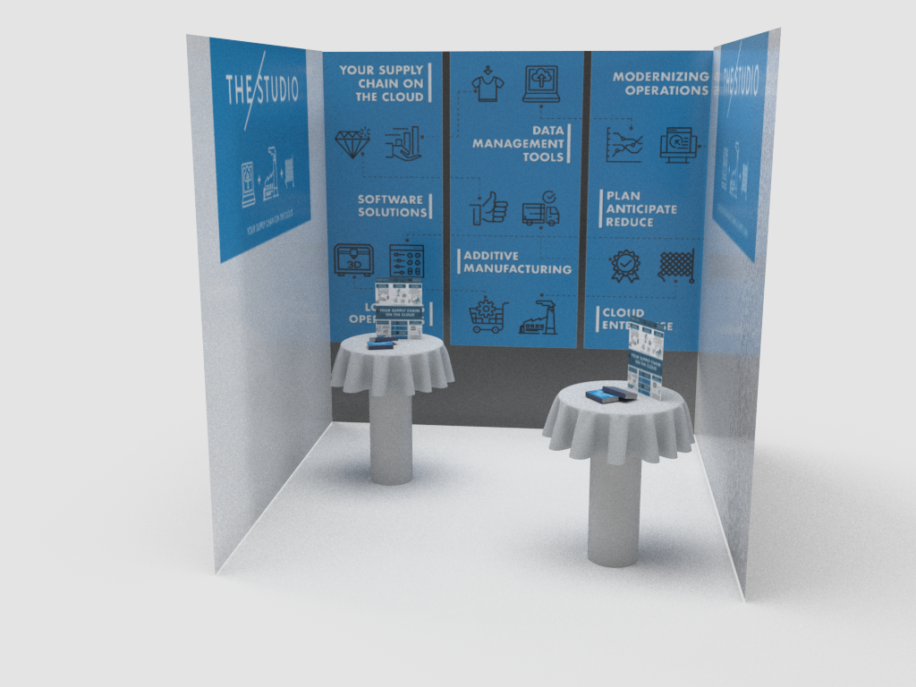 Booth 3D Render