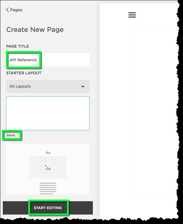 Page Setup - Use the blank layout.