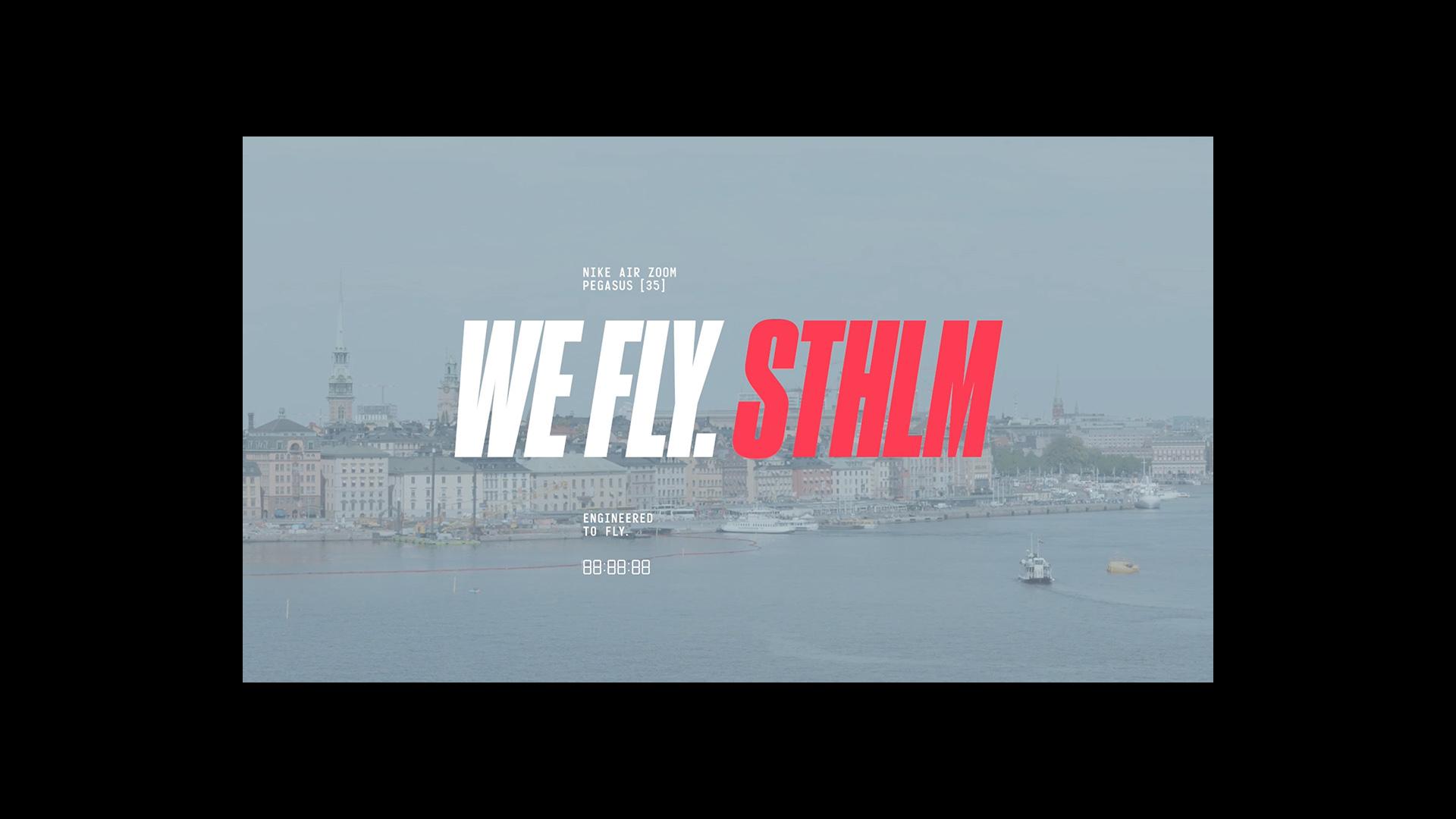 """4/7 Nike """"We Fly Stockholm"""" Art Direction"""