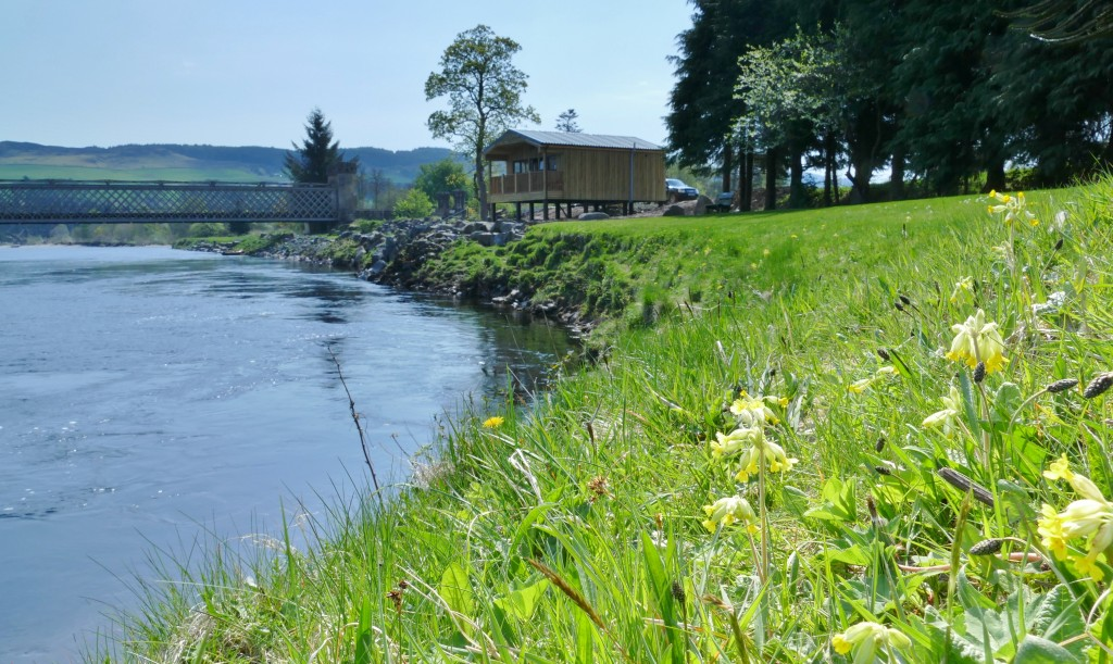 salmon fishing in Perthshire, Scotland