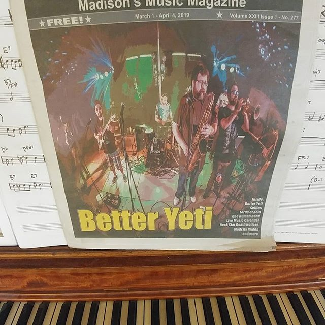 Pick up a copy of Maximum Ink and get the inside scoop on @better_yeti_music and come check us out THIS FRIDAY March 29 at Harmony Bar with good friends @wurktheband !!!! @rokkermon