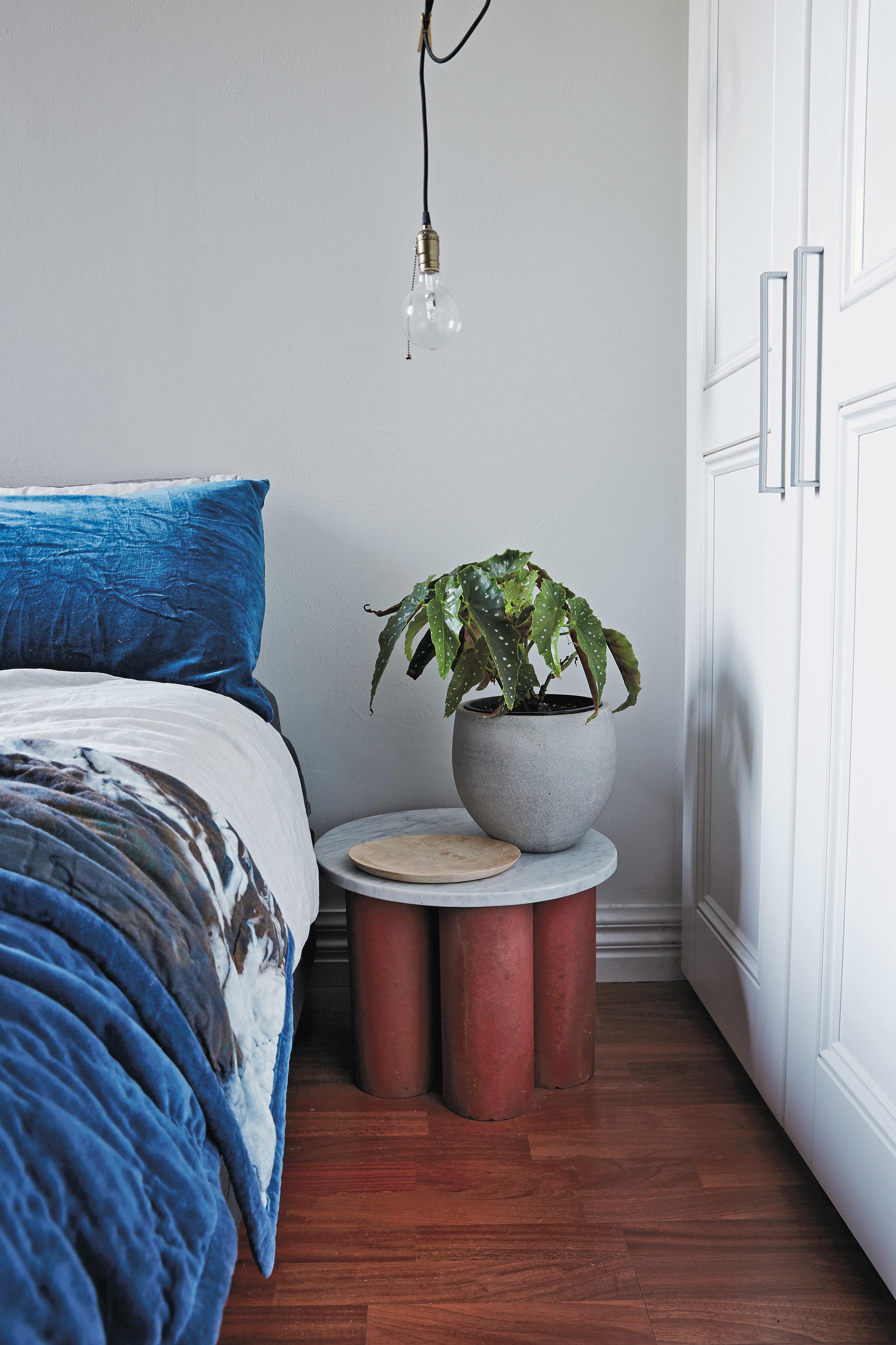 Plants in the bedroom.