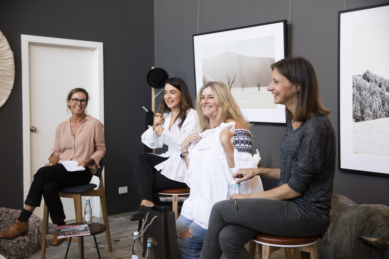 Tamsin O'Neil (Green magazine), Manuela Millan (Meanwhile In Melbourne), Rebecca Jansma (Space Grace & Style), Anne-Claire Petre (anaca studio)