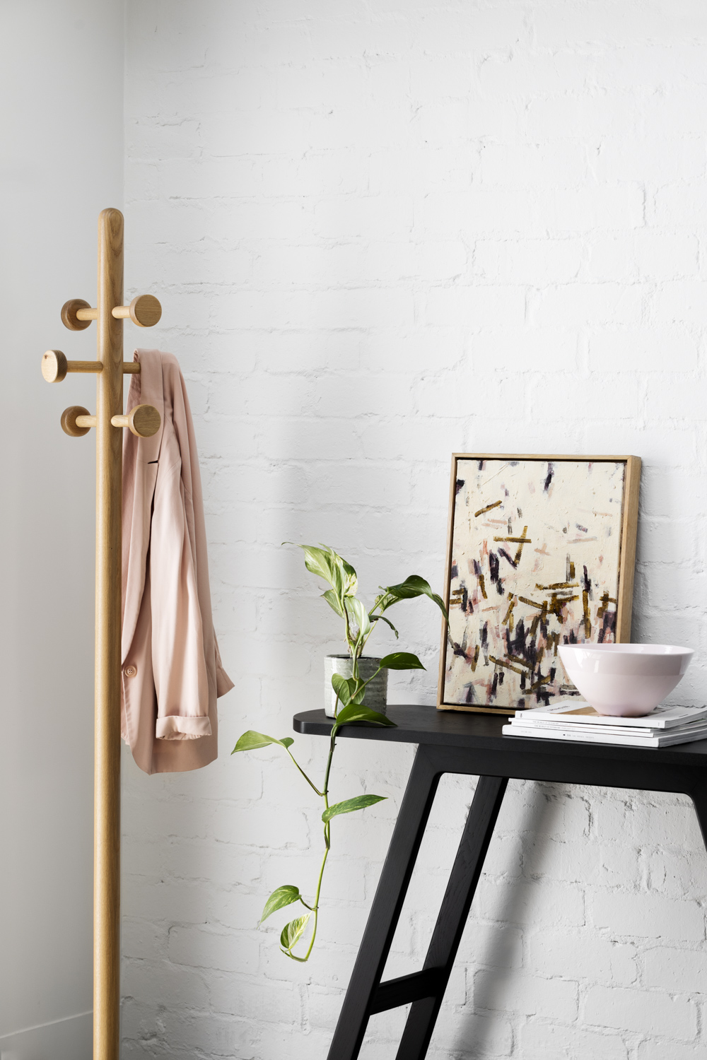 Elliot coat stand - Elliot's clean aesthetic and small footprint make it the perfect element to complete any interior.