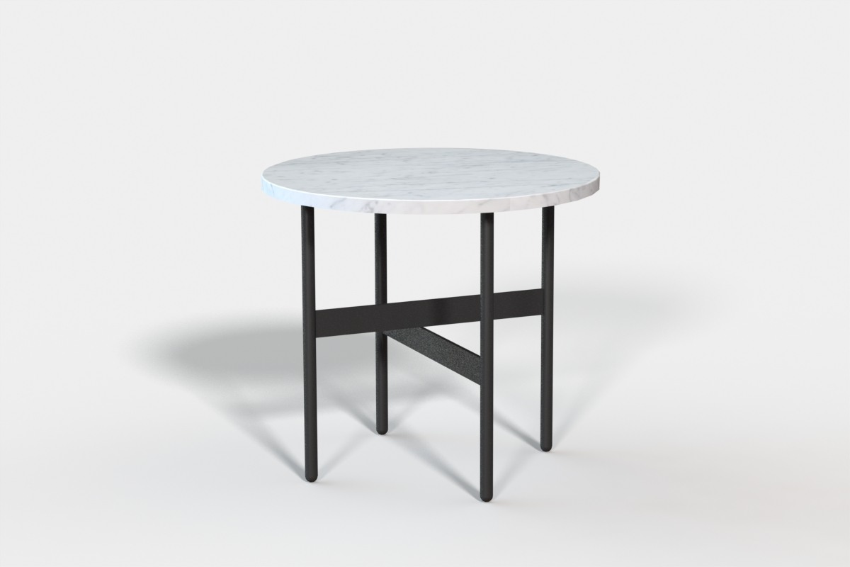 Edgar side table with marble top - custom - dia 500mm x h:450mm