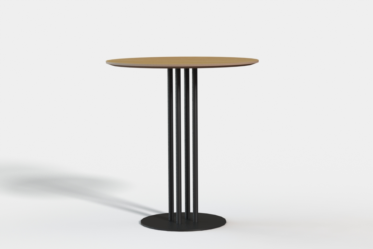 Paris Cafe Table 700 dia Ply top - Oak veneer
