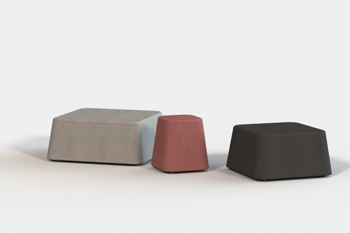 Ibis ottomans - Small 450mm, Medium 650mm, Large 950mm