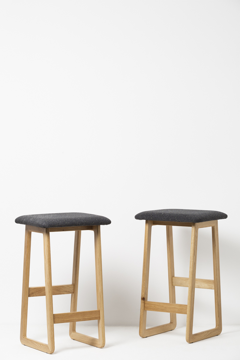 Jules bar stools Padded seat - A sophisticated and minimal and inspired by a mix of Scandinavian and Japanese aesthetics.