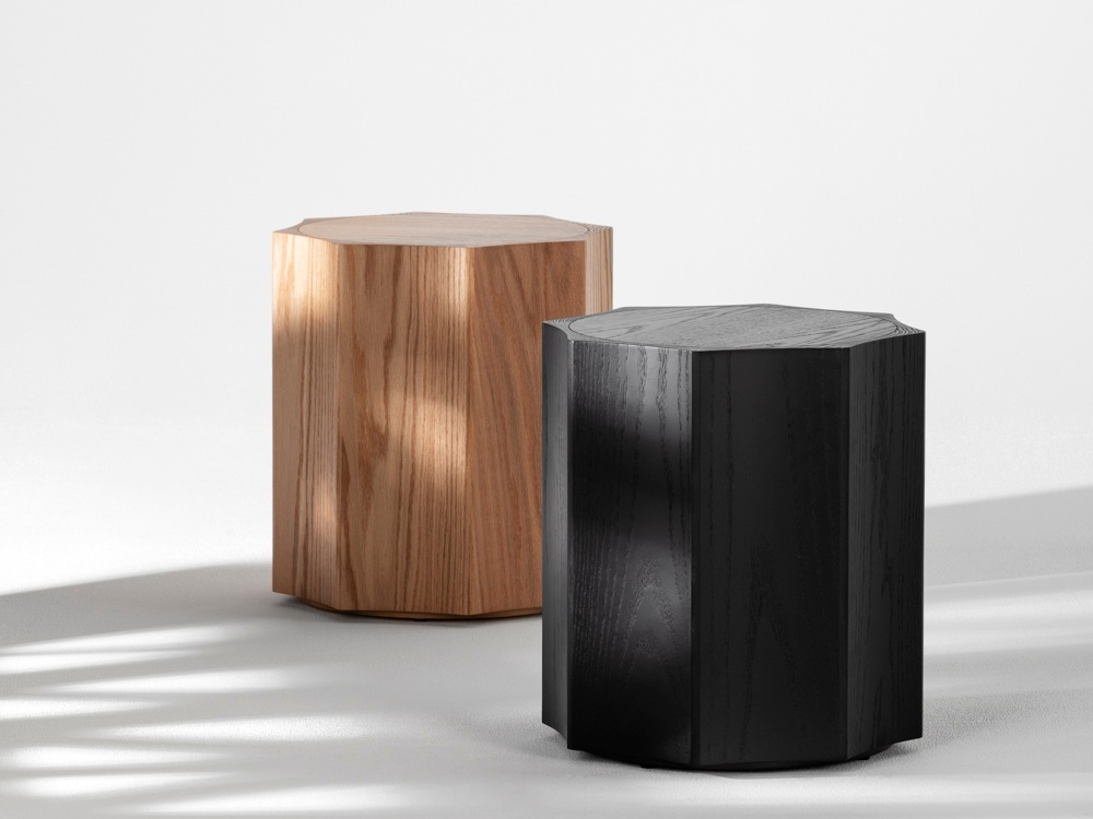 Max side tables in solid American Red Oak.