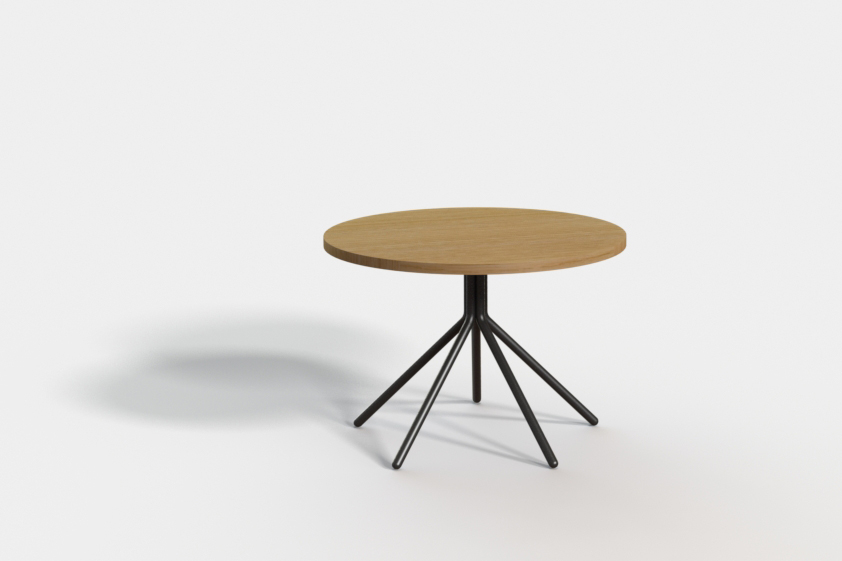 Etoile small coffee table. Top in solid timber or compact laminate