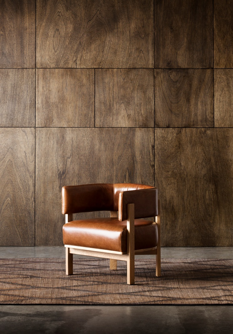 Flo armchair - A sturdy feel yet has a very light profile and footprint.