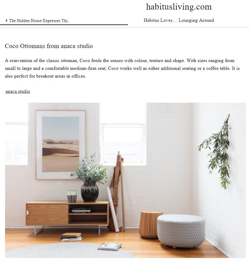 Habitus - Loves Lounging - Coco ottomans - April 2019