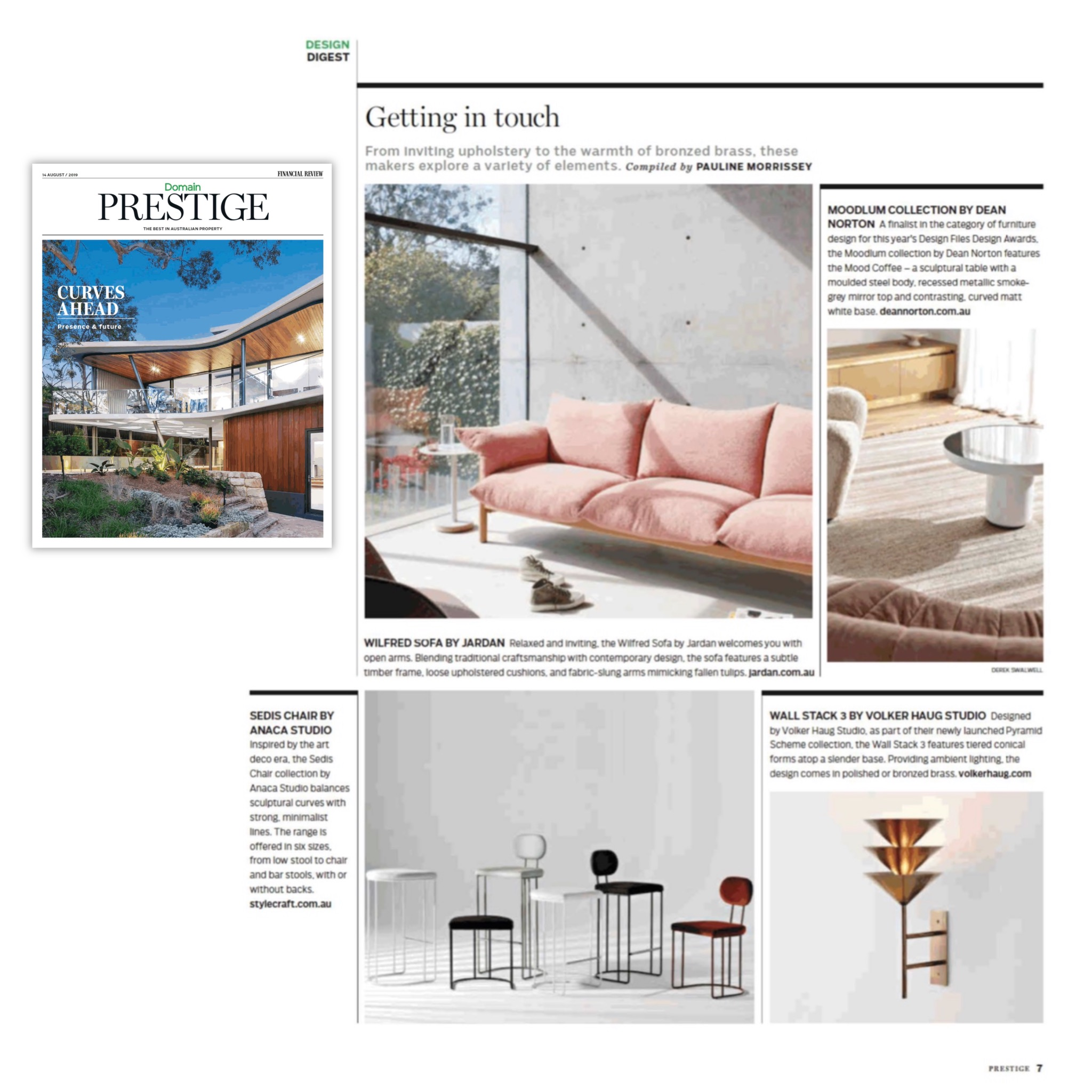 Financial Review - Domain Prestige - Aug 2019 - Sedis seating Collection