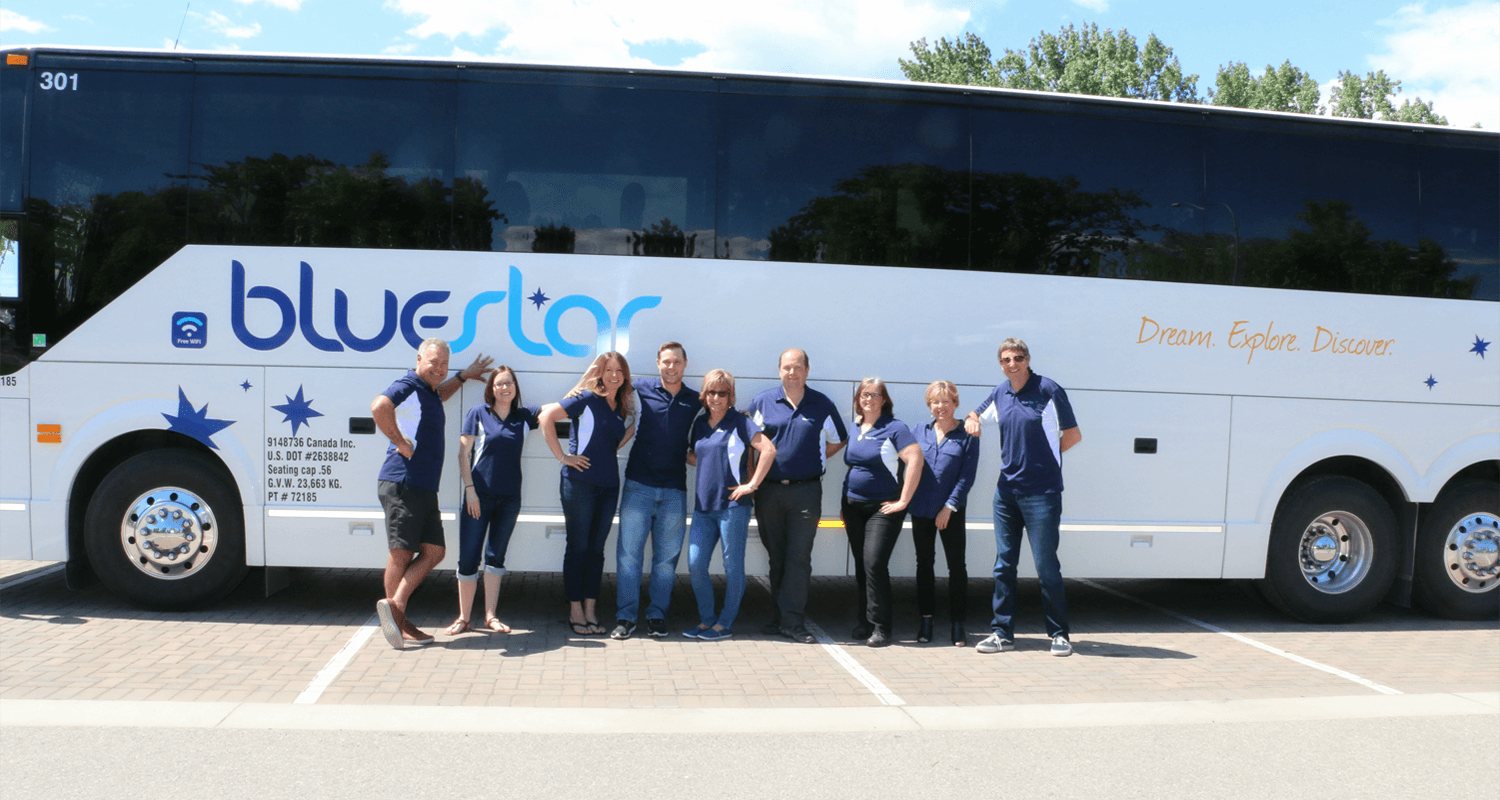 The Bluestar Coachlines team, friendly, dedicated, passionate, professional