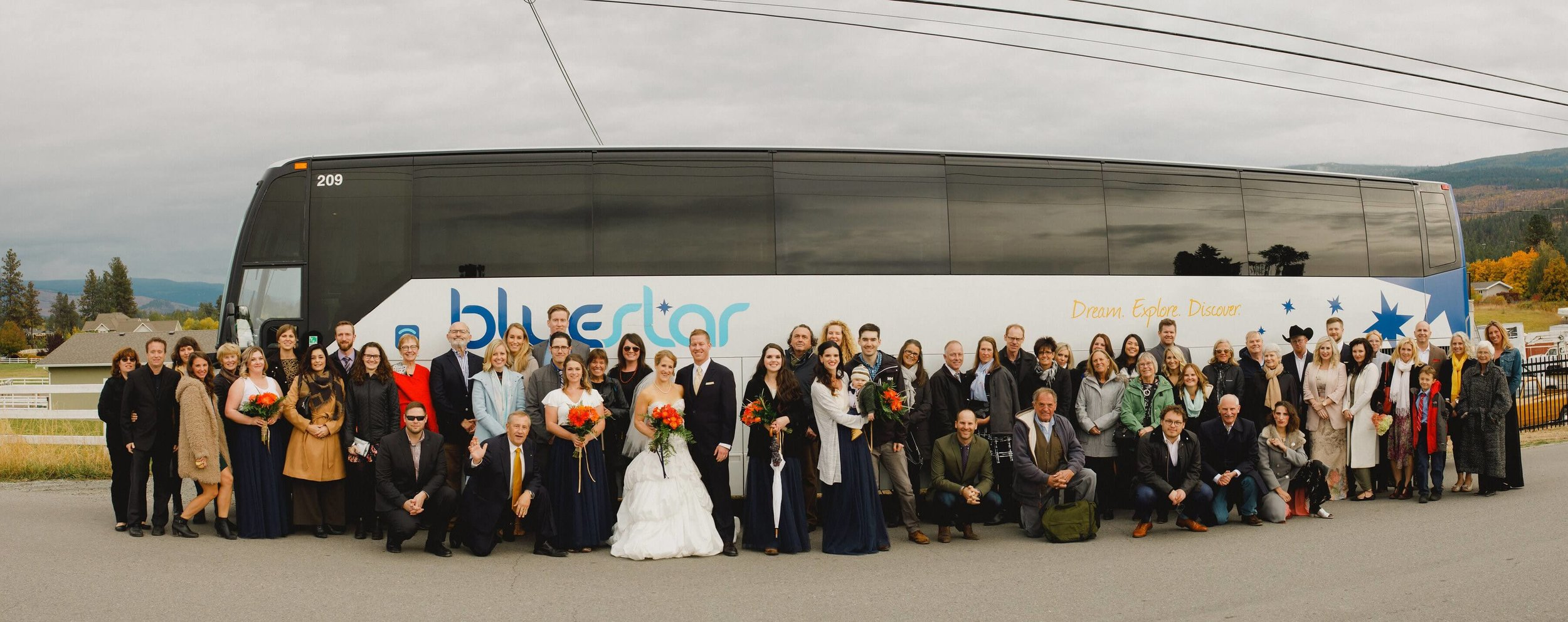 A BlueStar Wedding - Transportation for the entire wedding party for a very special marriage day.