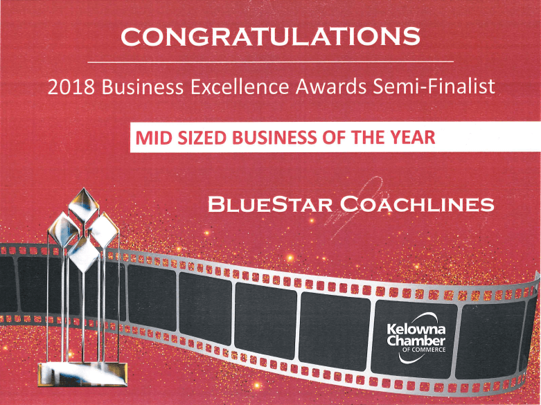 Kelowna Chamber of Commerce - mid-sized business award