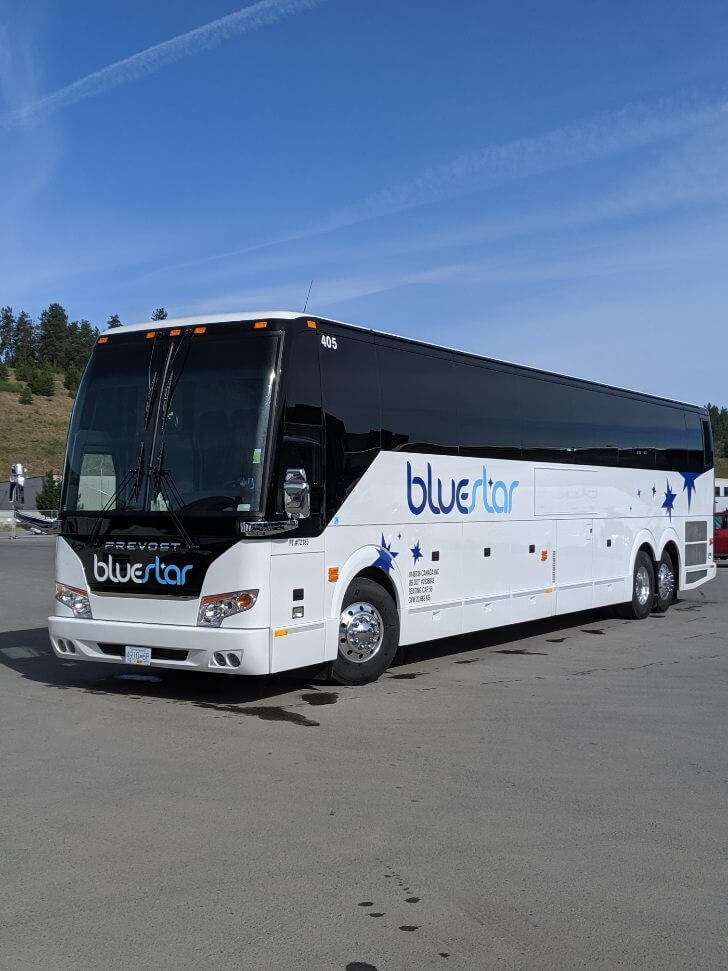 BlueStar's luxury-class 56-passenger coach / bus