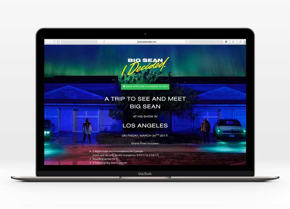 BIG SEAN       - I DECIDED.UX Design  First Spotify