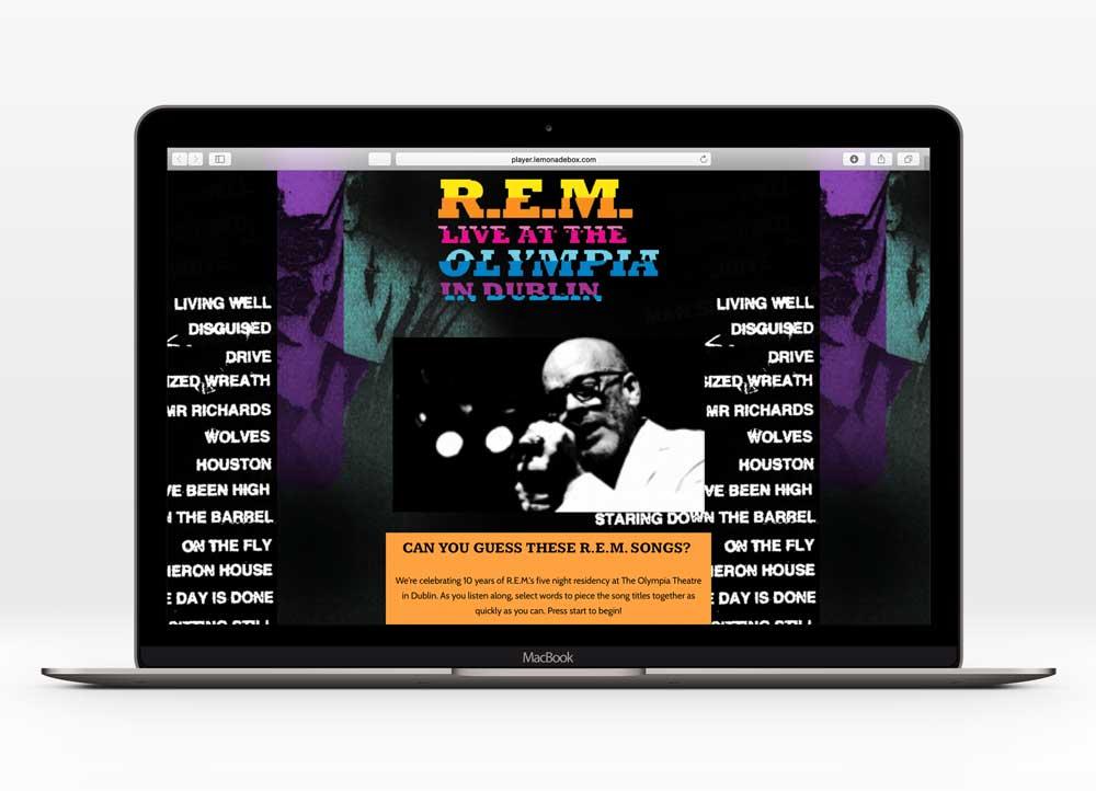 R.E.M. - UX Design   1000+ unique users   In collaboration with UMe