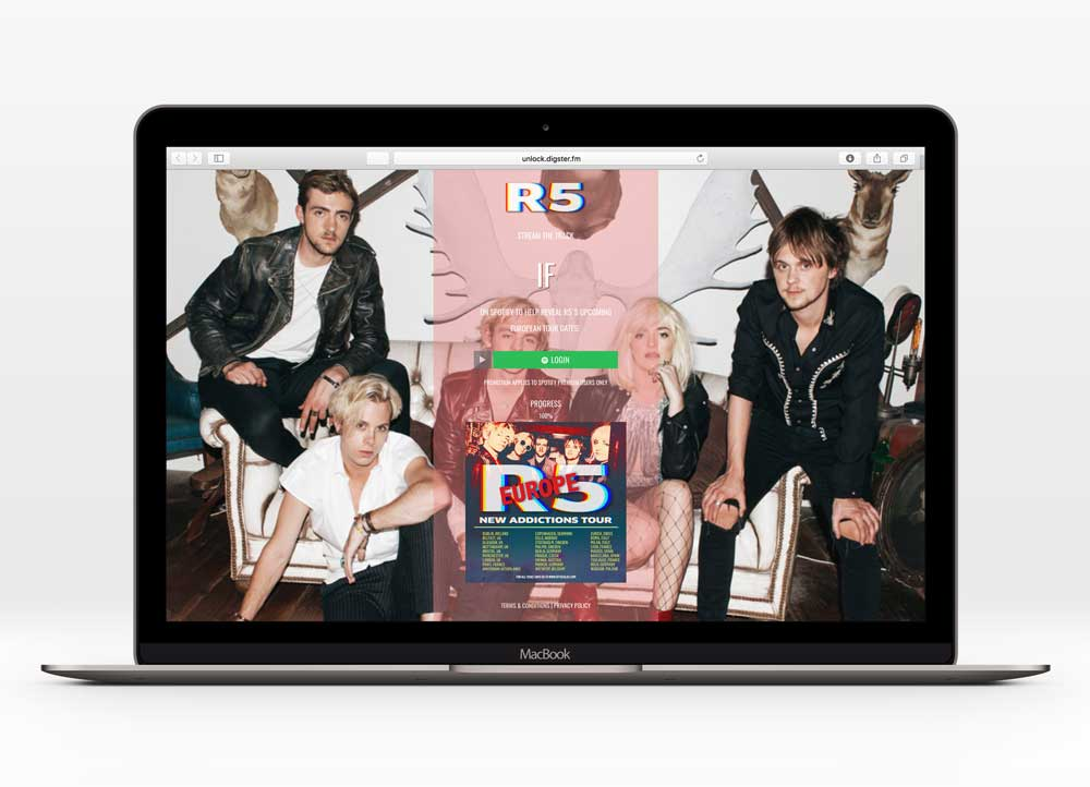 R5 - IFUX Design   In collaboration with Hollywood Records   Generated 55k+ song streams