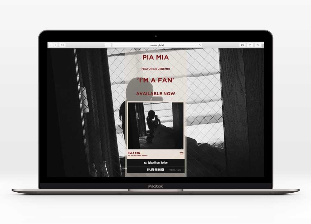 PIA MIA - I'M A FANUX Design   In collaboration with Interscope Records  3k+ unique users