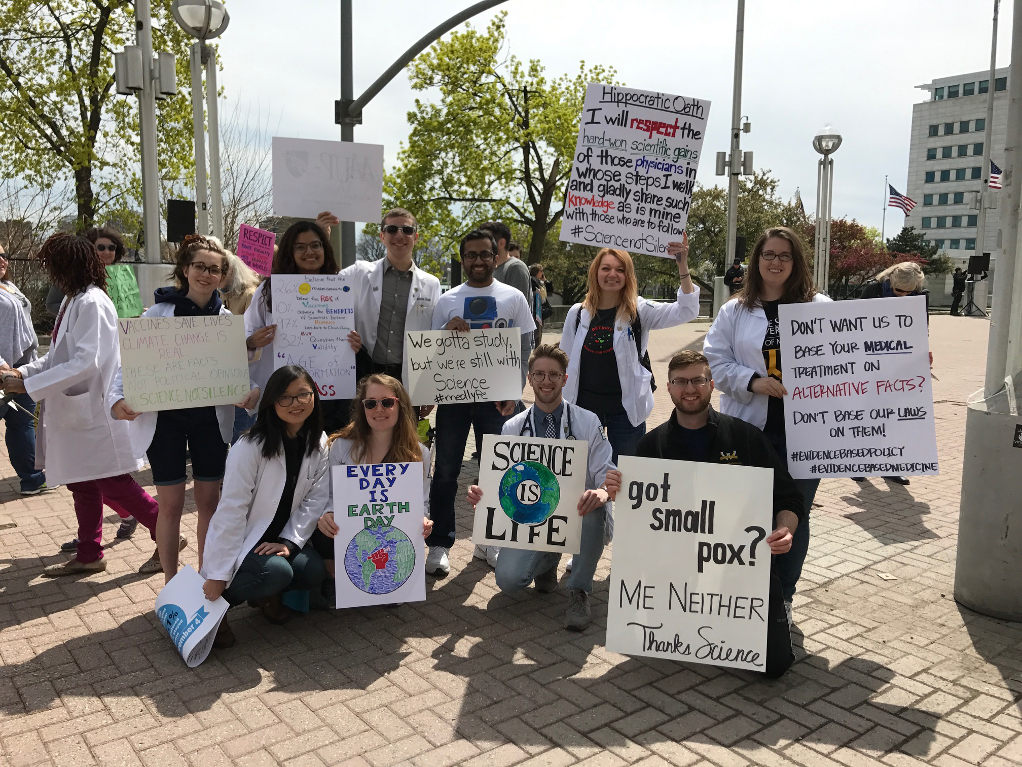 APRIL 2017 ETROIT MARCH FOR SCIENCE. Our members joined scientists, doctors, students and citizens that believe in Science. And beleieve that good science, peer-reviewed science, bfact-based science, should be used when creating legistlation for our country.