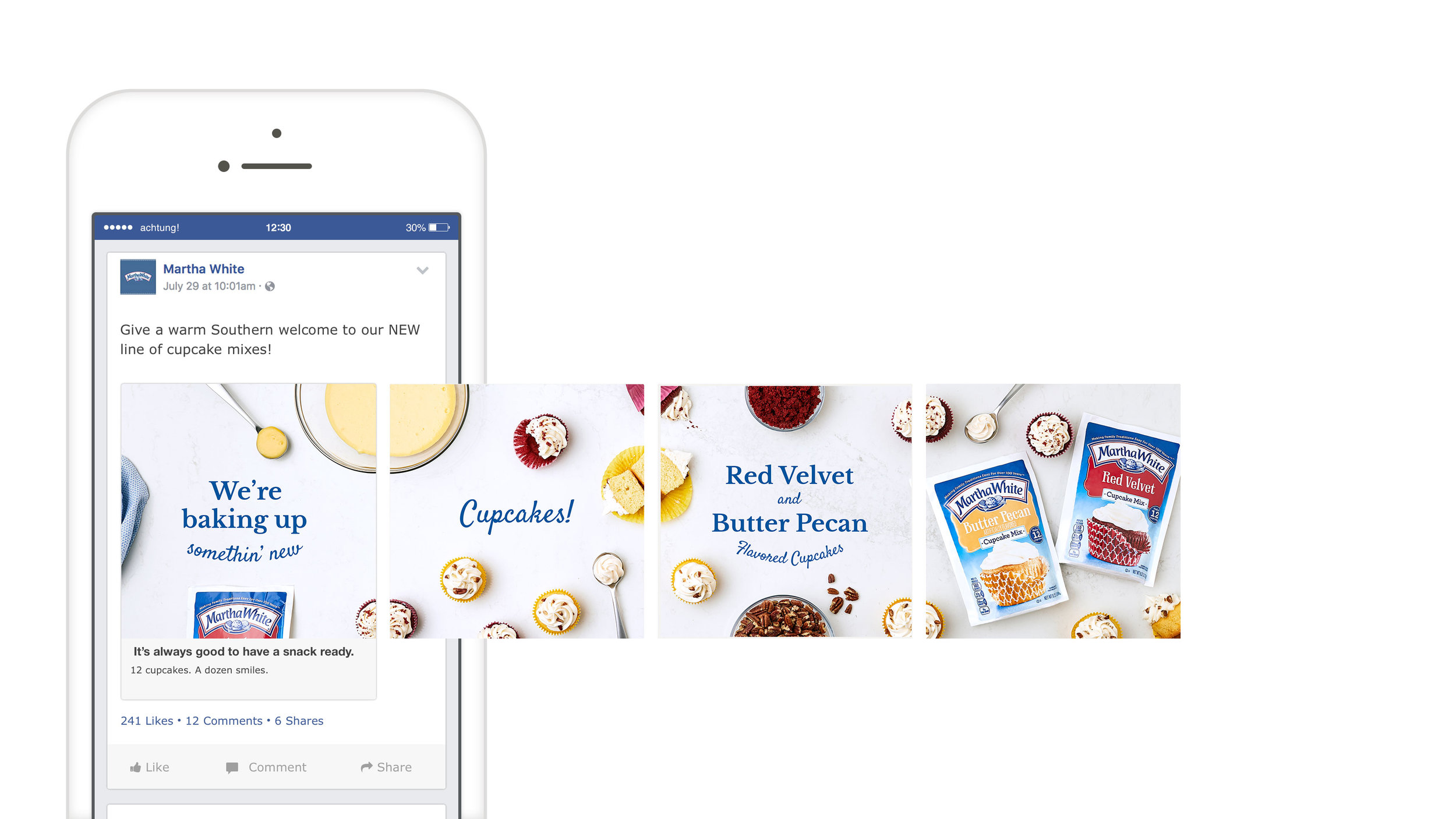 CAROUSEL AD    Using one panoramic image, this concept inspires the user to scroll to the right and discover the new product and flavors themselves.