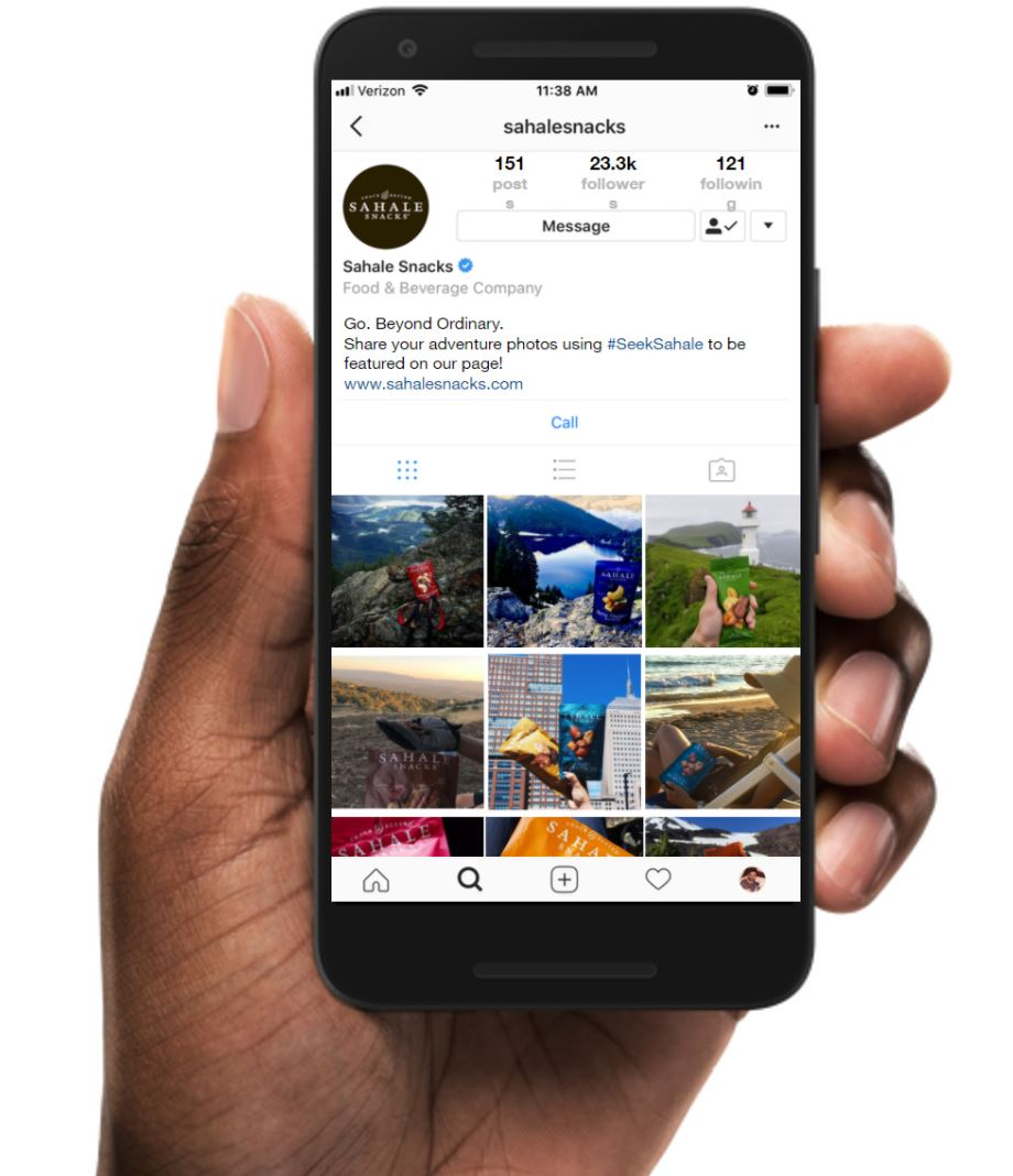 "INSTAGRAM |  Using our ""Beyond Ordinary"" tag, we rewrote the bio to have a simple and inspiring CTA to garner future content."
