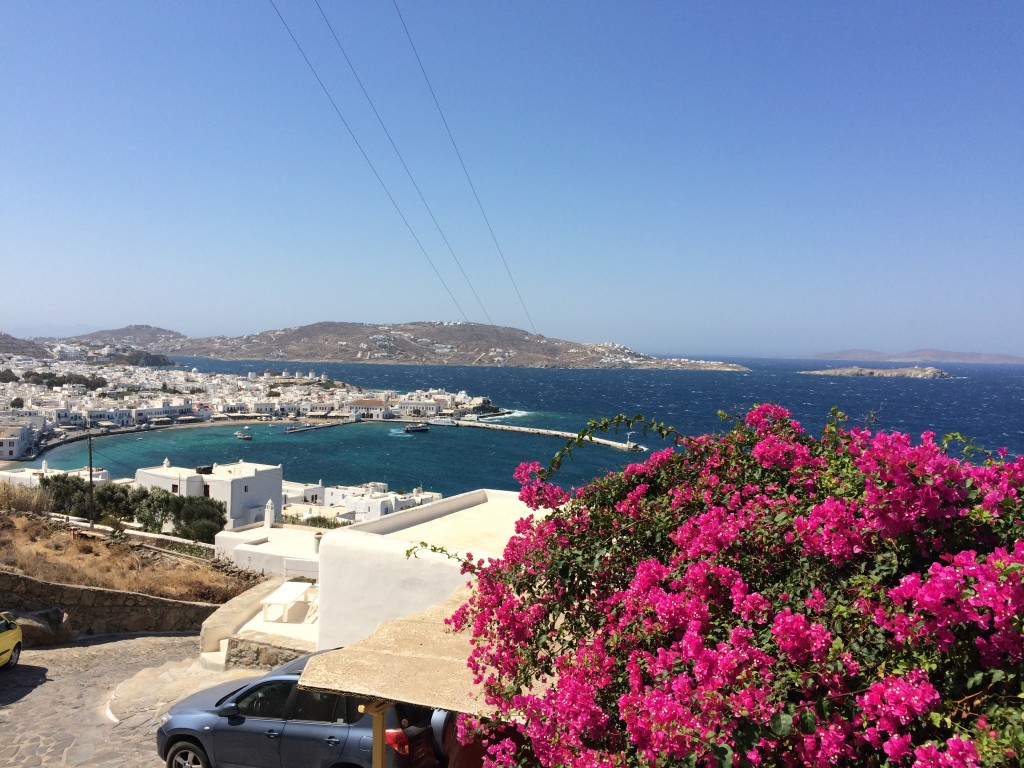 View of Mykonos Harbour, from Mykonos View Hotel Room