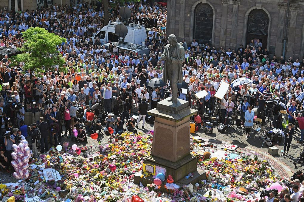 Manchester - one minute of silence. How many minutes going forward to pick up the pieces of shatter lives? How can such hatred reign?
