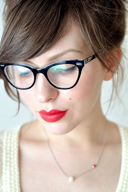The beauty of choosing eyewear as an accessory is the opportunity for going bigger with your makeup as well.  Brows and lips and lids  can complete the picture.
