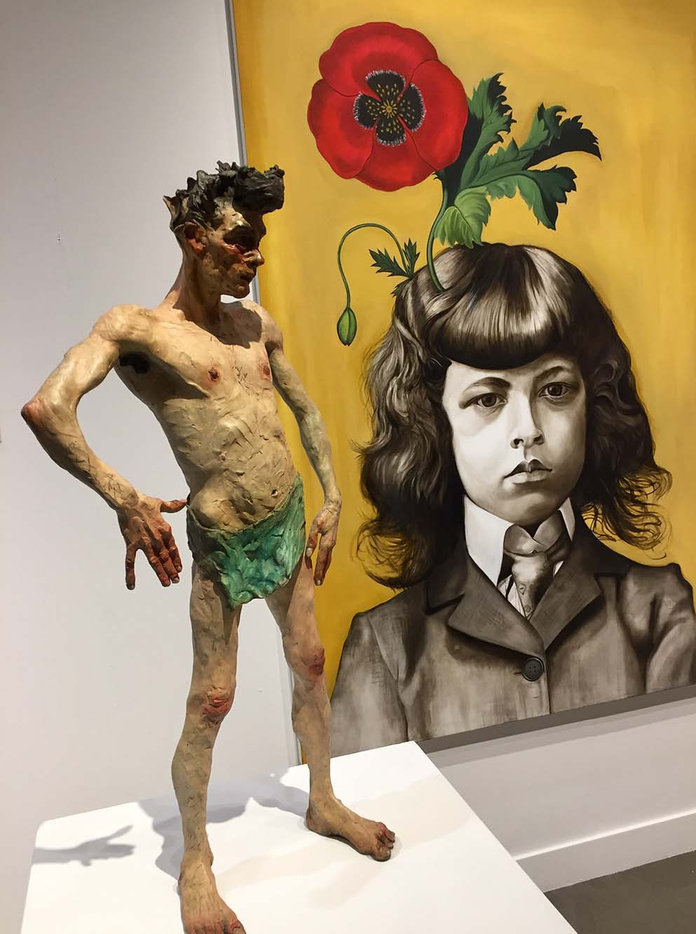 Egon Schiele II and Boy with Flowers for Brains #3